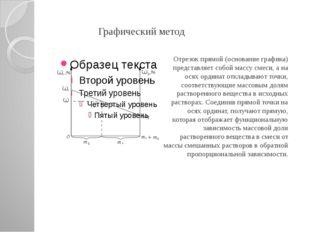 Графический метод Отрезок прямой (основание графика) представляет собой масс
