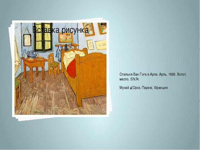 Спальня Ван Гога в Арле. Арль, 1889. Холст, масло, 57х74. Музей д'Орсэ, Париж...