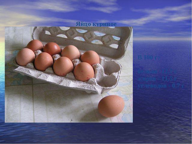 Яйцо куриное ...