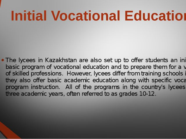 vocational education 3 essay Vocational education and training has met great development as it is applied in great extend in developed, mostly industrially, countries, in order to equip their workforce with the new skills that the labor market demands.