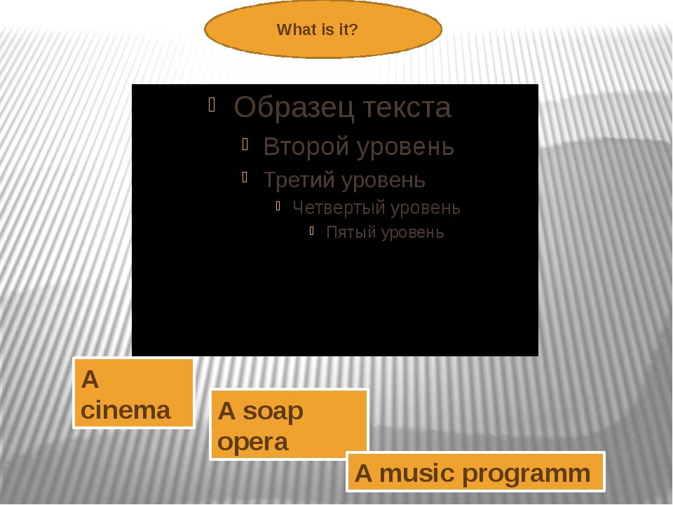 What is it? A cinema A soap opera A music programm