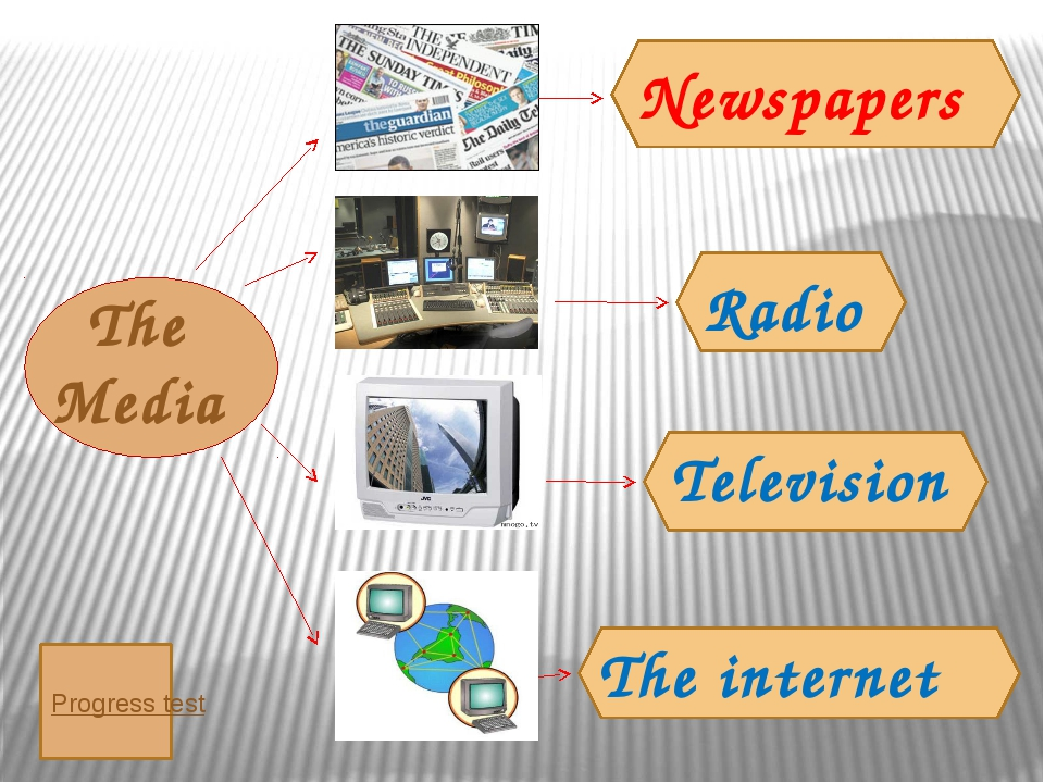 The Media Television The internet Radio Newspapers Progress test