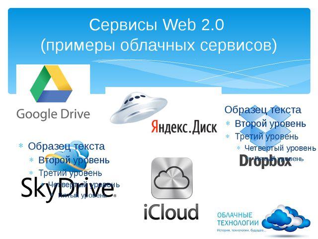 Сервисы Web 2.0 (примеры облачных сервисов)