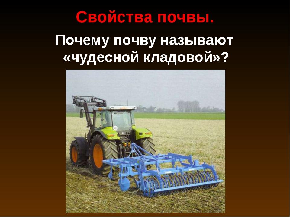 Почему почву называют «чудесной кладовой»? Свойства почвы.