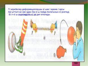 Тәжірибелер деформациялаушы күшке қарама қарсы бағытталған жаңадан бір күш па
