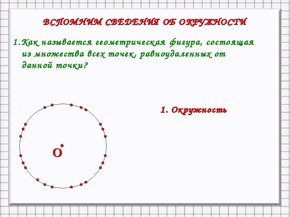 1.Как называется геометрическая фигура, состоящая из множества всех точек, ра...