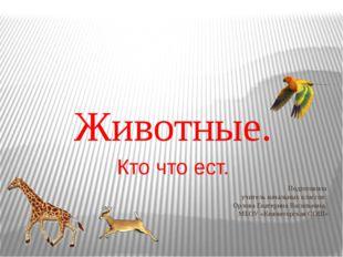 Подготовила учитель начальных классов: Орлова Екатерина Васильевна, МБОУ «Кня
