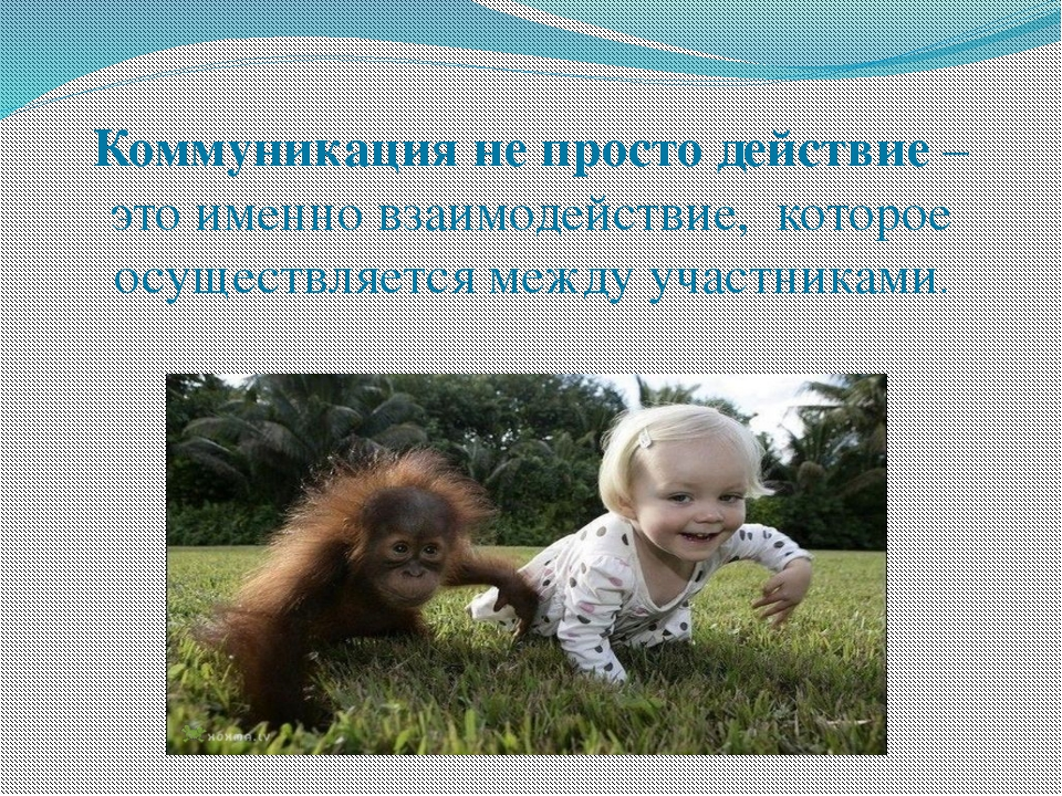 Коммуникация не просто действие – это именно взаимодействие, которое осуществ...