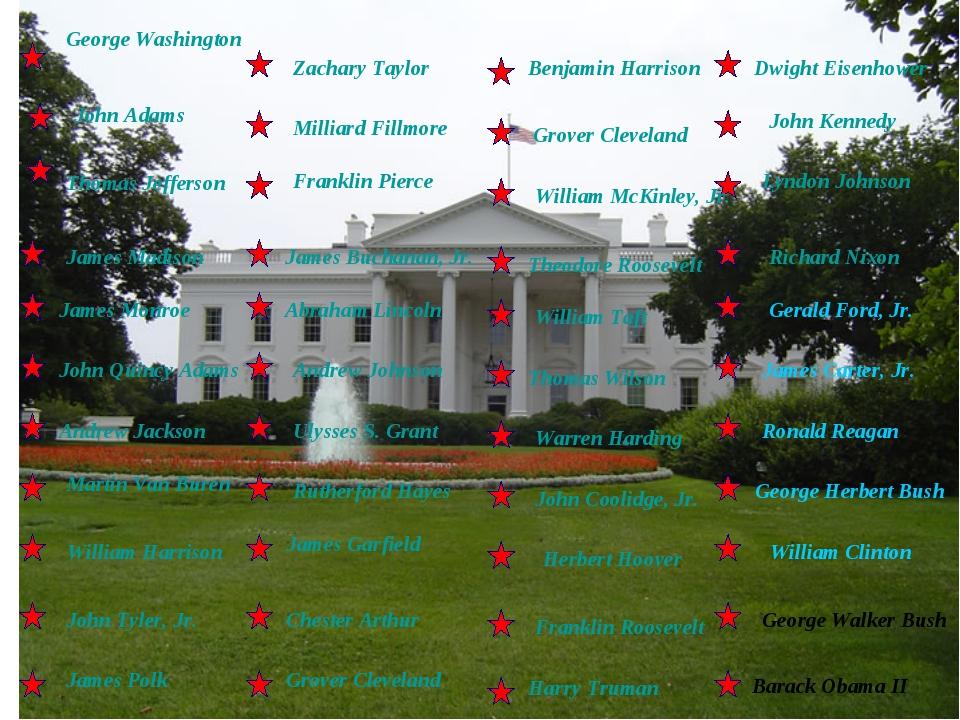 George Washington Thomas Jefferson James Madison James Monroe John Quincy Ada...