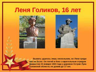 Леня Голиков, 16 лет Выжить удалось лишь нескольким, но Лени среди них не был