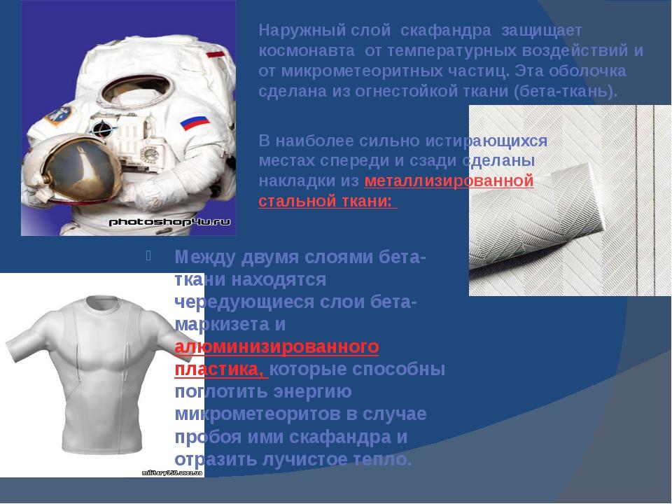 Между двумя слоями бета-ткани находятся чередующиеся слои бета-маркизета и ал...
