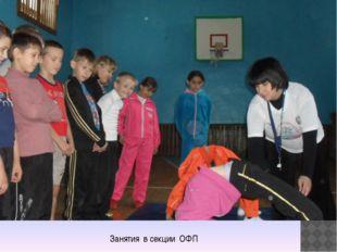 Занятия в секции ОФП