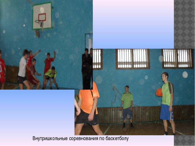 Внутришкольные соревнования по баскетболу
