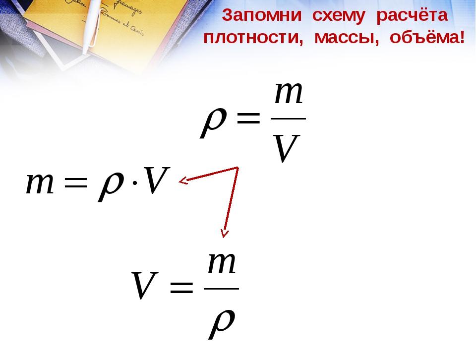 Плотность вещества- «свойство вещества, общее свойство тела, густота вещества...