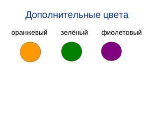 Дополнительные цвета оранжевый зелёный фиолетовый