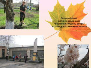"""Всеукраїнська волонтерська акція """"Весняний тиждень добра"""" в громадсько активн"""