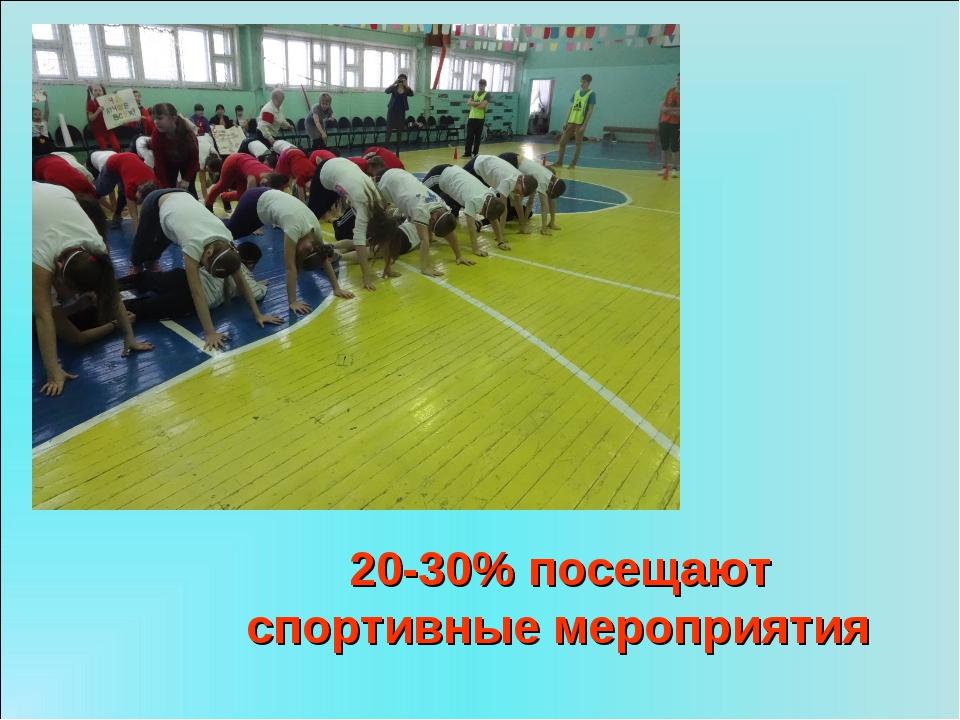 20-30% посещают спортивные мероприятия