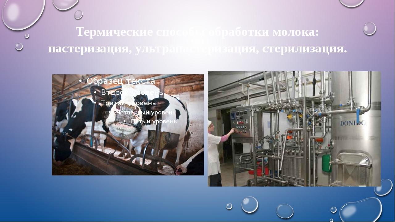 Термические способы обработки молока: пастеризация, ультрапастеризация, стери...