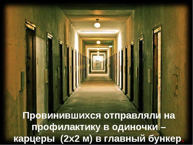 Провинившихся отправляли на профилактику в одиночки – карцеры (2х2 м) в главн...