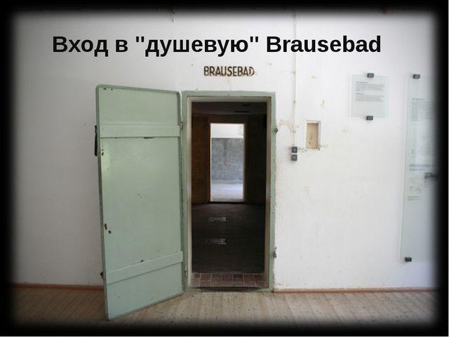 """Вход в """"душевую"""" Brausebad"""