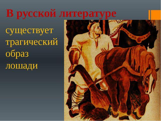 В русской литературе существует трагический образ лошади