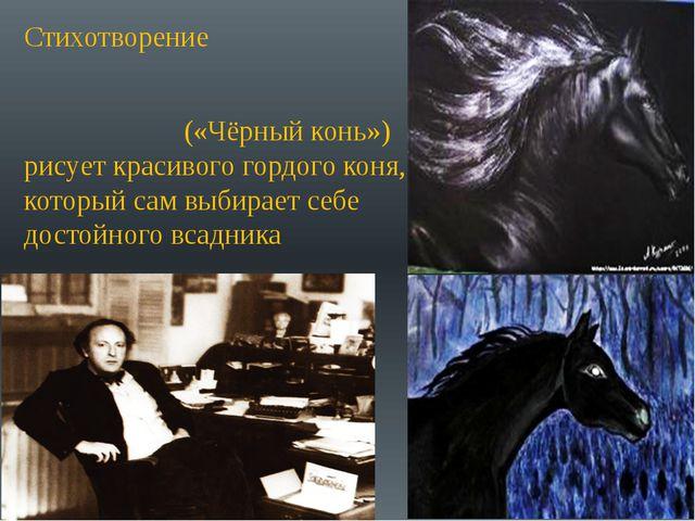 Стихотворение Ио́сифа Алекса́ндровича Бро́дского(«Чёрный конь») рисует крас...