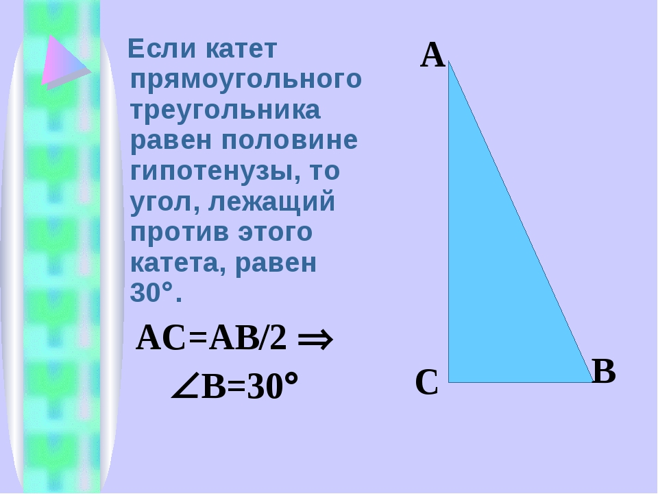 катеты прямоугольного треугольника картинки это