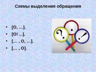 Схемы выделения обращения [O, …].  [O! ...]. [… , O, …].  [… , O].