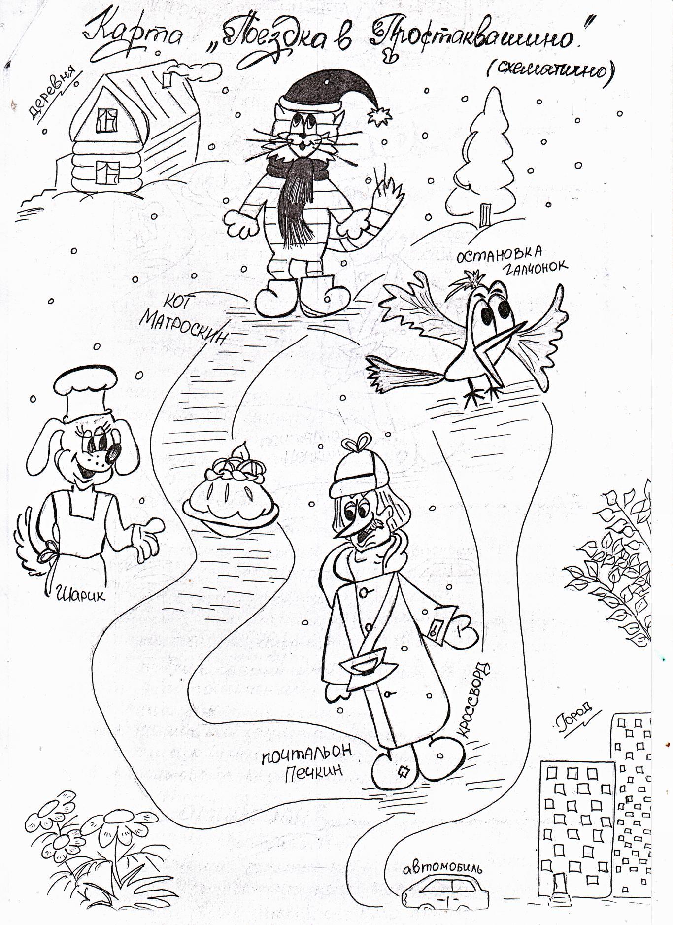 E:\Рабочий материал\Сказочные герои\почтальон Печкин\карта Простоквашино.tif