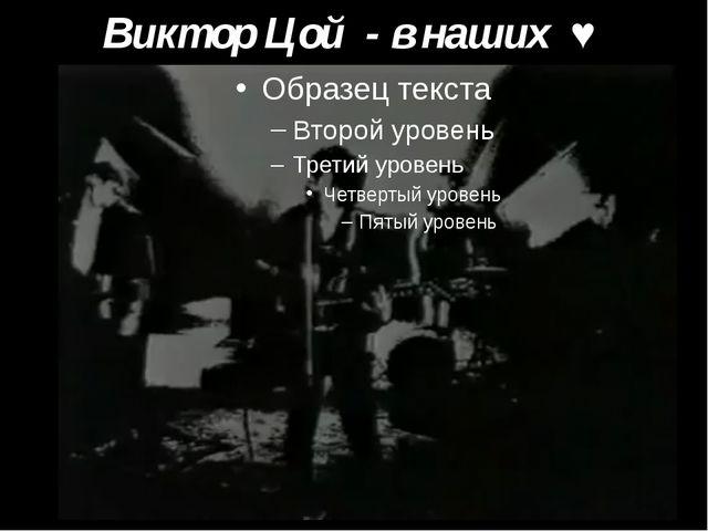 Виктор Цой - в наших ♥
