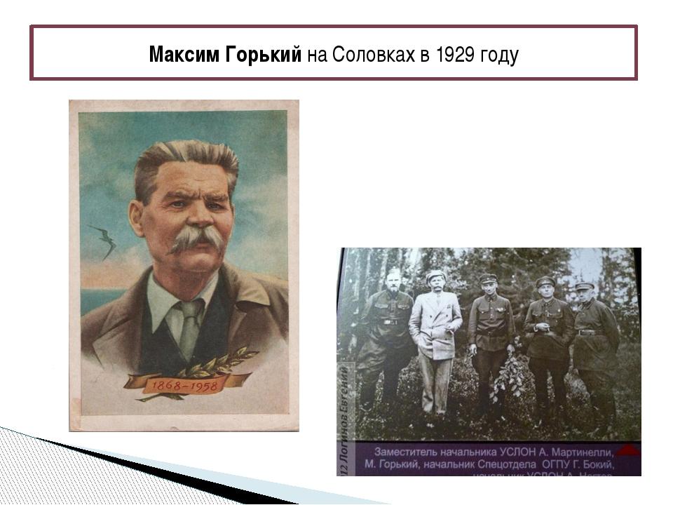 Максим Горький на Соловках в 1929 году