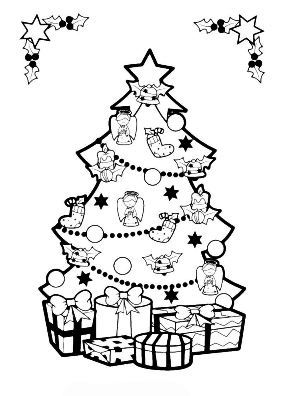 50 занимательных раскрасок новогодних ёлок Скачать бесплатно