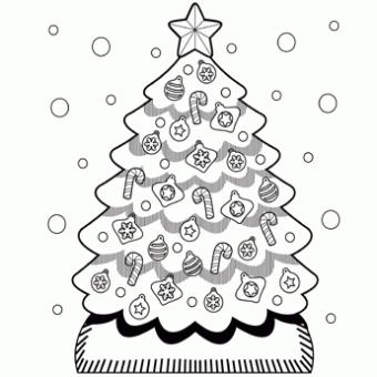 Раскраски Новогодняя елка раскраска елка новогодняя - раскраски онлайн