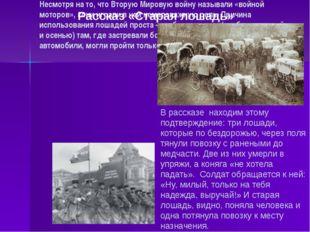 Несмотря на то, что Вторую Мировую войну называли «войной моторов», кони игра