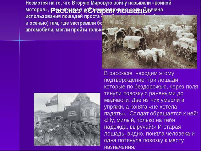 Несмотря на то, что Вторую Мировую войну называли «войной моторов», кони игра...