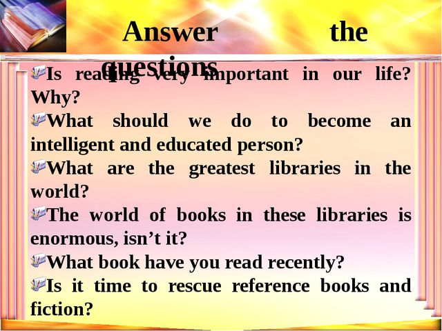 Is reading very important in our life? Why? What should we do to become an in...