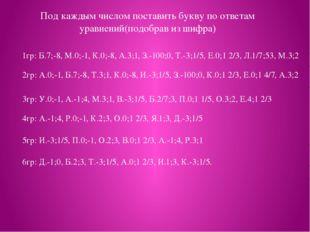 1гр: Б.7;-8, М.0;-1, К.0;-8, А.3;1, З.-100;0, Т.-3;1/5, Е.0;1 2/3, Л.1/7;53,