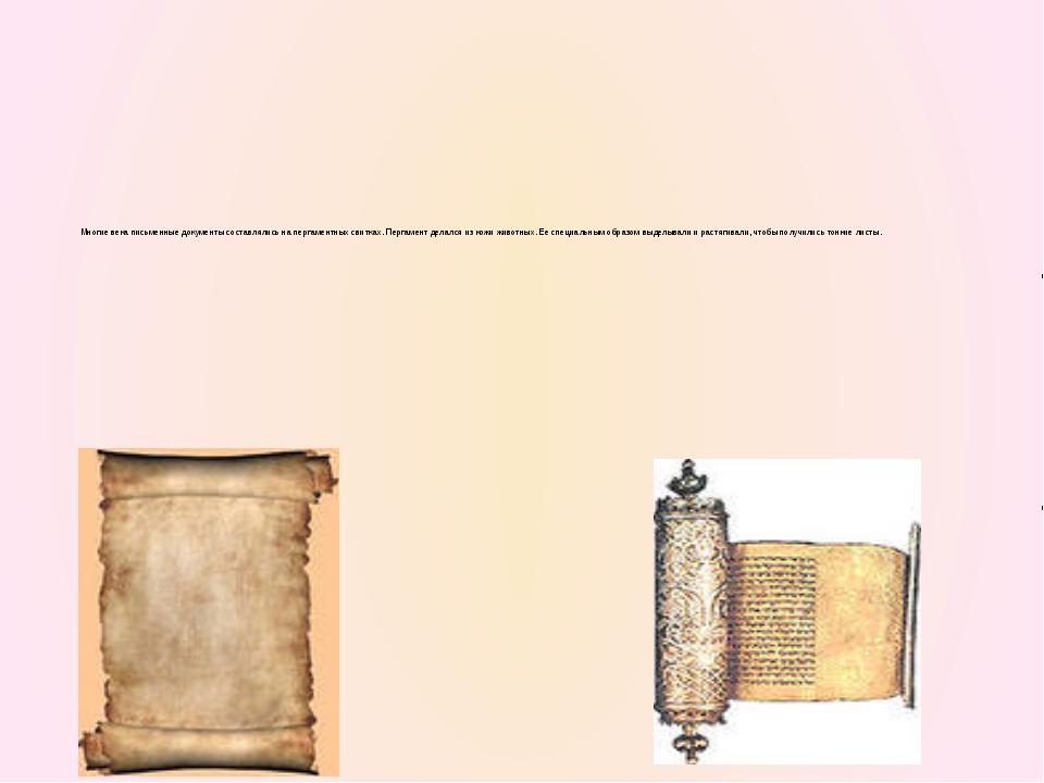 Когда на востоке научились ткать шелк, его стали использовать и для письма.