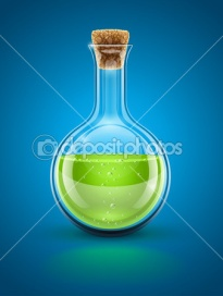 Стеклянная химическая колба Стеклянная химическая колба с зеленой токсичной жидкостью и пробкой, векторные иллюстрации. glass ch