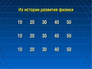 Из истории развития физики 1020304050 1020304050 1020304050