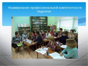 Формирование профессиональной компетентности педагогов