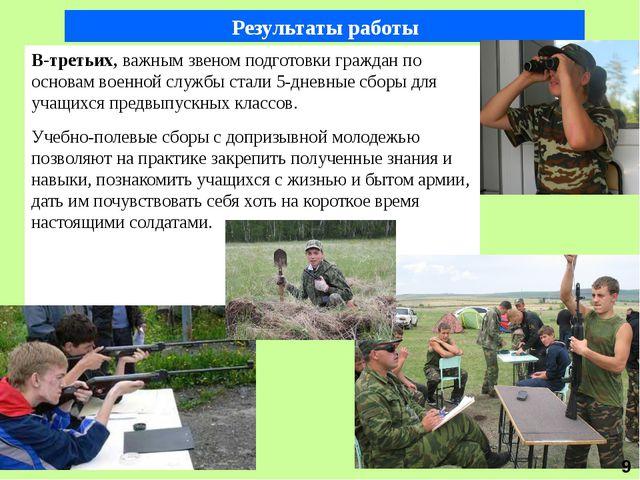 В-третьих, важным звеном подготовки граждан по основам военной службы стали 5...