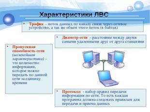 Трафик – поток данных по каналу связи через сетевое устройство, а так же объе