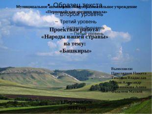Муниципальное автономное общеобразовательное учреждение «Первомайская средняя