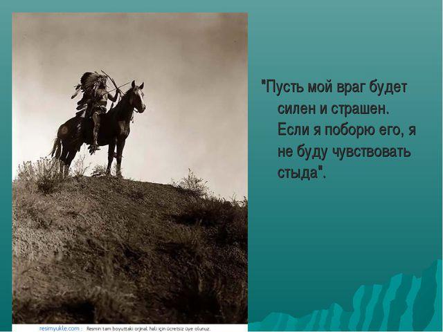 """""""Пусть мой враг будет силен и страшен. Если я поборю его, я не буду чувствов..."""
