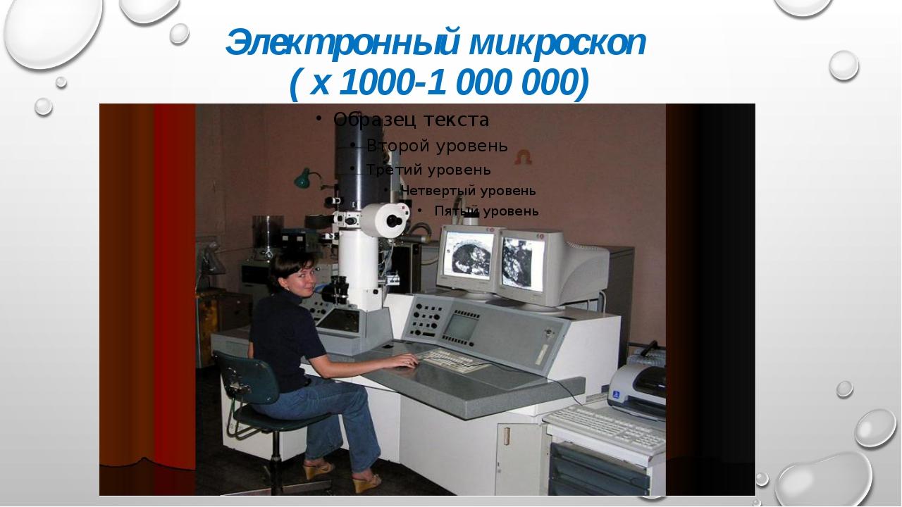Электронный микроскоп ( х 1000-1 000 000)