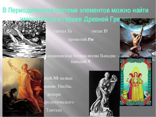 В Периодической системе элементов можно найти имена богов и героев Древней Гр...