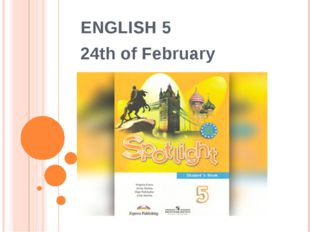 ENGLISH 5 24th of February