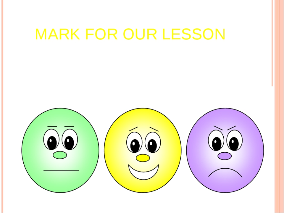 MARK FOR OUR LESSON