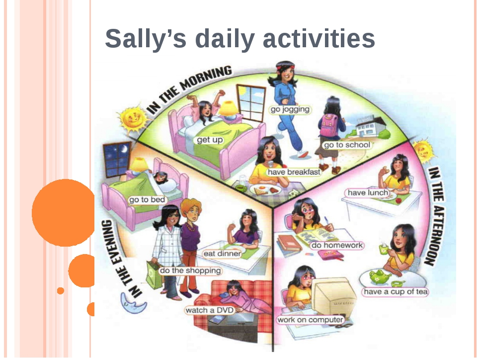 Sally's daily activities